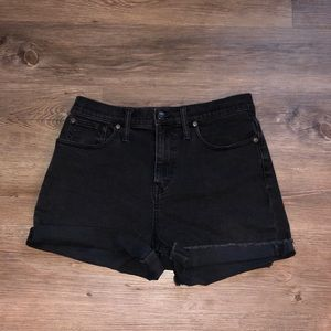 Madewell Black Denim Shorts